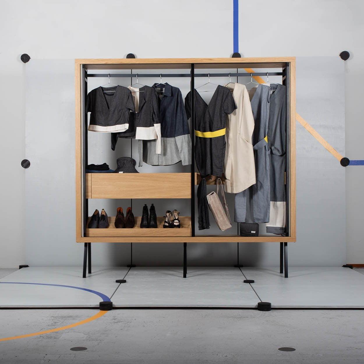 Ondiepe kledingkast - Rose Groot - Design & Wijn